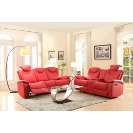 Talbot Red Double Reclining Living Room Set