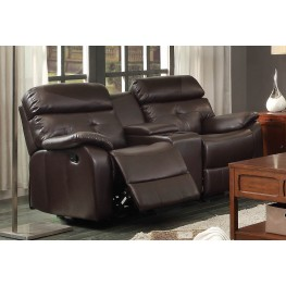 Evana Double Glider Reclining Loveseat With Console