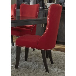 Platinum Upholstered Red Side Chair