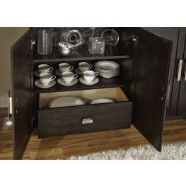 Platinum Bunching 1 Drawer Curio