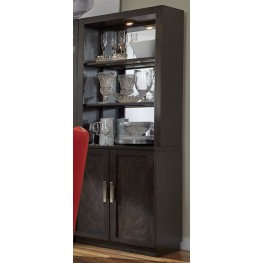 Platinum Bunching Shelf Curio with Hutch