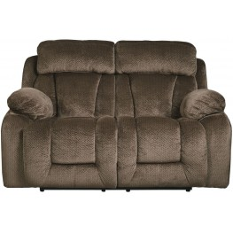 Stricklin Brown Reclining Loveseat