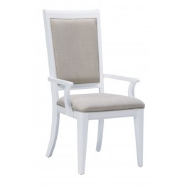Brighton White Arm Chair Set of 2
