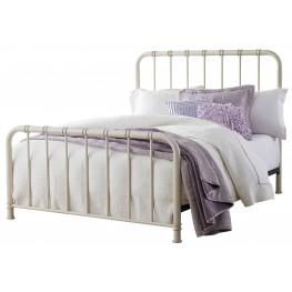 Tristen White Twin Metal Bed