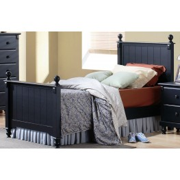 Pottery Black Twin Bed