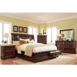 Vineyard Casual Tobacco Platform Storage Bedroom Set