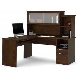 Dayton Chocolate L-Shaped Desk