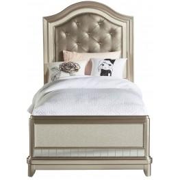 Li'l Diva Twin Upholstered Panel Bed