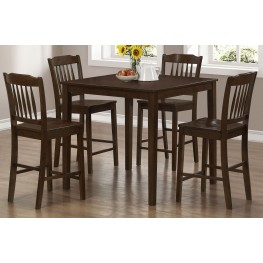 5 Piece Cappuccino Counter Height Dining Set