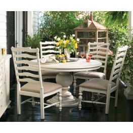 Paula Deen Home Linen Round Pedestal Extendable Dining Room Set