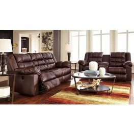Brolayne DuraBlend Brown Reclining Living Room Set