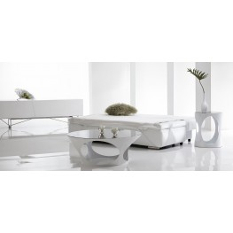 Marlow White High Gloss Occasional Table Set