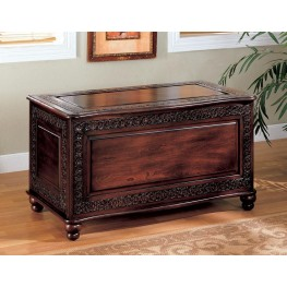 Dark Cherry Deep Tobacco Cedar Chest 900012