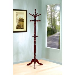 Walnut Dark Walnut Coat Rack with Spinning Top 900769