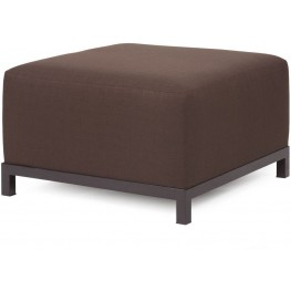 Axis Sterling Chocolate Ottoman Slipcover