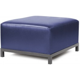 Axis Shimmer Sapphire Ottoman Slipcover