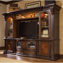 Grand Estates Cinnamon Entertainment Wall Unit
