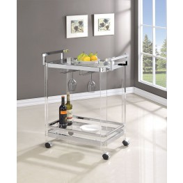 Clear Serving Cart