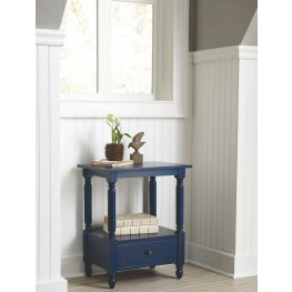 Navy Blue Accent Table