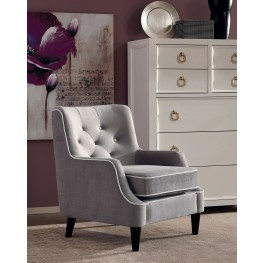 Grey and White Fabric Chair