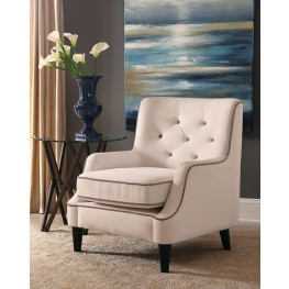White and Grey Fabric Chair
