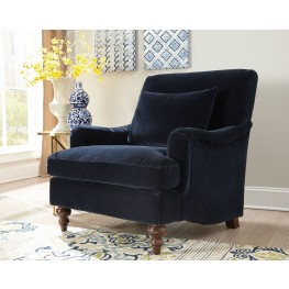 Modern living room chairs arm chairs wing chairs Midnight blue living room furniture