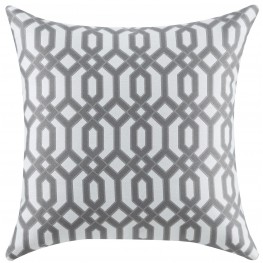 Gray and White Accent Pillow Set of 2