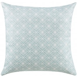 Oatmeal and Blue Accent Pillow