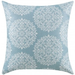 Sky Blue and Oatmeal Accent Pillow Set of 2