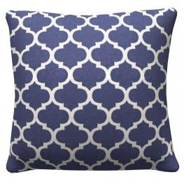 905323 Navy Quatrefoil Pillows Set of 2