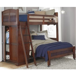Walnut Street Chestnut Locker Twin Loft Bed With Full Lower Bed