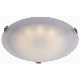 Aero Brushed Steel LED Small Flush mount