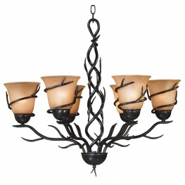 Twigs 6 Light Chandelier