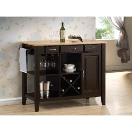 910028 Natural/Cappuccino Kitchen Cart