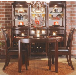 Tribecca Root Beer Round Leg Dining Room Set