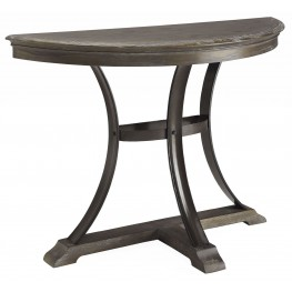Heritage Distressed Brown Demilune Console Table