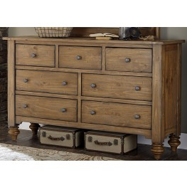 Southern Pines II 7 Drawer Dresser