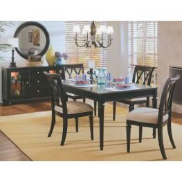 Camden Black Leg Extendable Dining Room Set