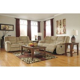 Garek Sand Reclining Living Room Set