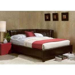 Rochester Brown Full Upholstered Corner Bed
