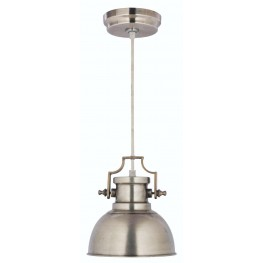 Nautilus Antique Nickel 1 Light Mini Pendant