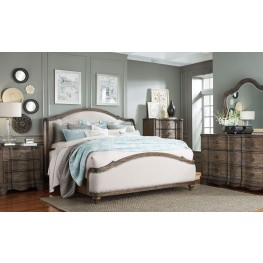 Parliament Vintage Dusty Brown Upholstered Platform Bedroom Set