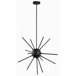 Atom Forged Graphite Led Chandelier