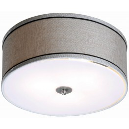 Margot Brushed Steel 2 Light Flush Mount