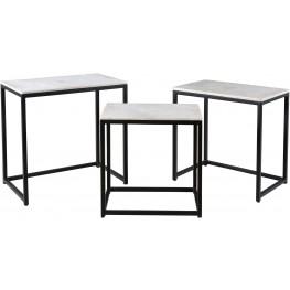 "Ponga Black 24"" Nesting Tables Set of 3"