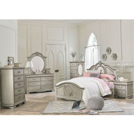 Jessica Silver Posh Silver Youth Panel Bedroom Set
