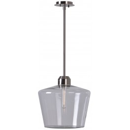 Abra Brushed Steel 1 Light Pendant