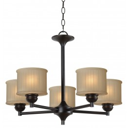 Barney Oil Rubbed Bronze 5 Light Chandelier