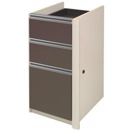 Connexion Slate & Sandstone Pedestal 2 utility drawers