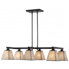 Capell Oil Rubbed Bronze 6 Light Island